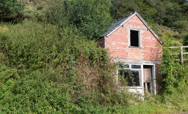 Ruined house in hillside