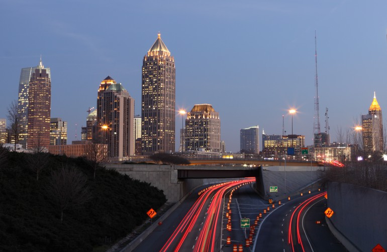 Midtown Atlanta at Sunset
