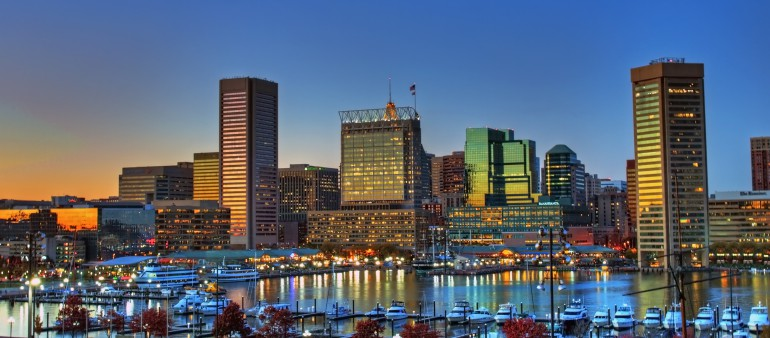 Baltimore Inner Harbor Sunset